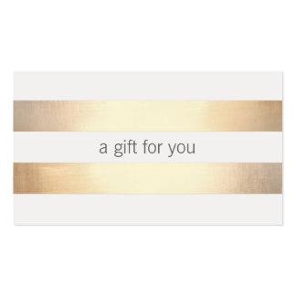 Falsa tarjeta de regalo al por menor rayada de la tarjetas de visita