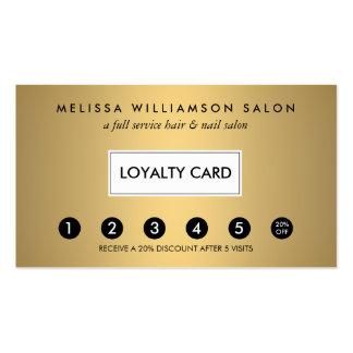 Falsa tarjeta de sacador simple de la lealtad del tarjetas de visita