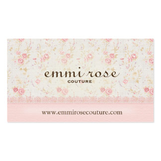 Falsa tarjeta de visita color de rosa delicada del