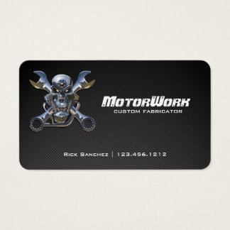 Falsa tarjeta de visita de la motocicleta de la