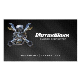 Falsa tarjeta de visita de la motocicleta de la fi