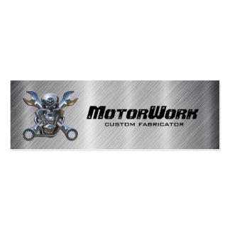 Falsa tarjeta de visita de la motocicleta del acer