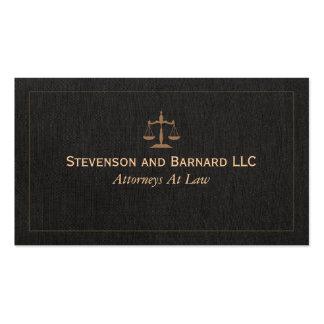 Falsa tarjeta de visita de lino del abogado