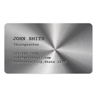 Falsa tarjeta de visita del Chiropractor del acero