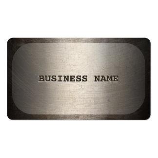 Falsa tarjeta de visita del metal de la placa de i
