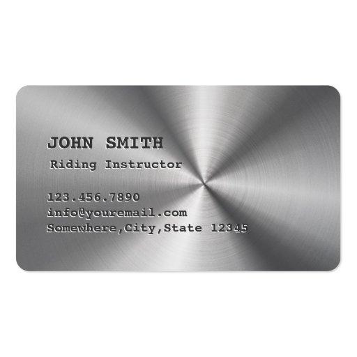 Falsa tarjeta de visita ecuestre fresca del acero