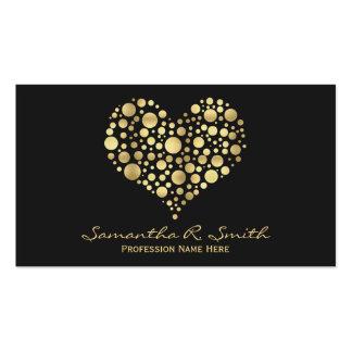 Falsa tarjeta de visita elegante del corazón de la