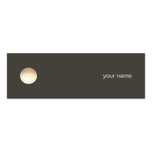 Falsa tarjeta de visita minimalista del círculo de