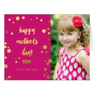 Falsa tarjeta del día de madre de la hoja de oro