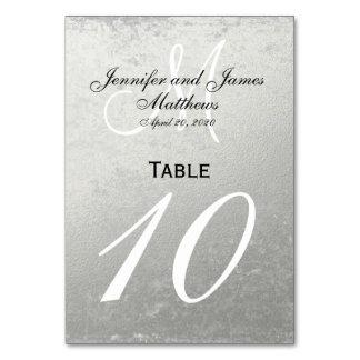 Falsa tarjeta del número de la tabla del boda de