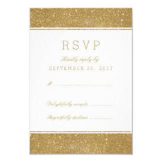"""Falsa tarjeta elegante de RSVP de la respuesta del Invitación 3.5"""" X 5"""""""