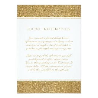 """Falsa tarjeta elegante del parte movible del boda invitación 4.5"""" x 6.25"""""""