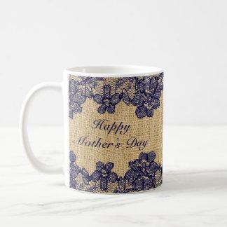 Falsa taza con clase del día de madre del cordón