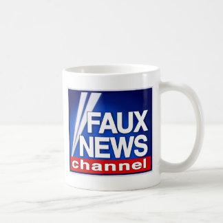 Falsa taza del canal de noticias