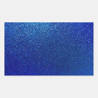 Falsa textura azul de la chispa del fondo del pegatina rectangular