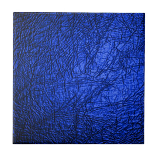 Falsa textura de cuero azul azulejos ceramicos