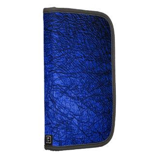 Falsa textura de cuero azul planificador