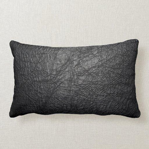 Falsa textura de cuero negra cojines
