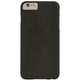 Falsa textura de cuero negra funda barely there iPhone 6 plus