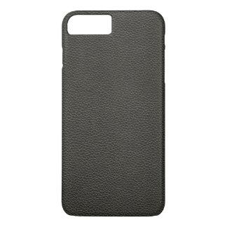 Falsa textura de cuero negra funda iPhone 7 plus