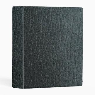 Falsa textura de cuero negra mini carpeta