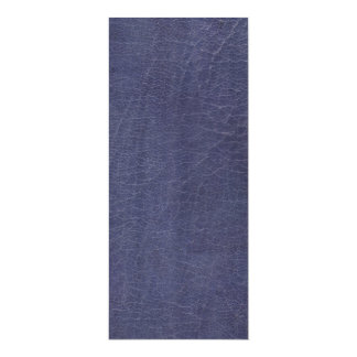 "Falsa textura de cuero púrpura invitación 4"" x 9.25"""