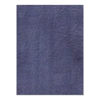 "Falsa textura de cuero púrpura invitación 6.5"" x 8.75"""
