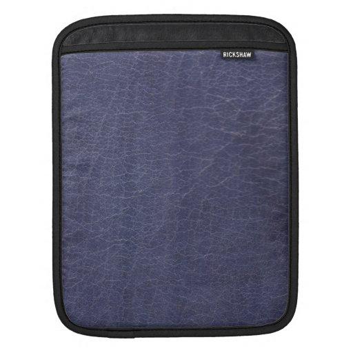 Falsa textura de cuero púrpura mangas de iPad