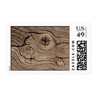 Falsa textura de los nudos de madera sellos