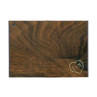Falsa textura de madera de caoba envejecida con el iPad mini cárcasas