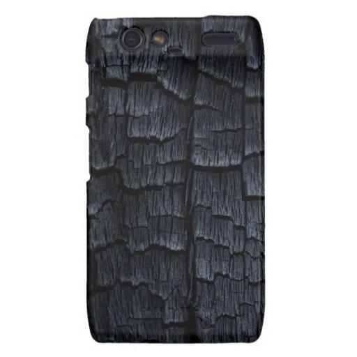 Falsa textura de madera quemada motorola droid RAZR carcasa