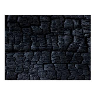 Falsa textura de madera quemada tarjeta postal