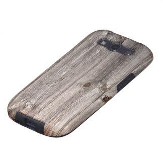 Falsa textura de madera rústica galaxy SIII funda