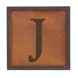 Falsa textura del cuero de Brown Cajas De Joyas De Calidad