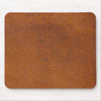 Falsa textura del cuero de Brown Tapete De Raton