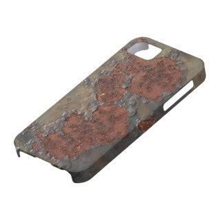 Falsa textura del moho hierro aherrumbrado escamo iPhone 5 protectores