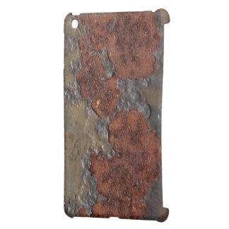 Falsa textura del moho hierro aherrumbrado escamo iPad mini protectores