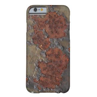 Falsa textura del moho (hierro aherrumbrado funda para iPhone 6 barely there
