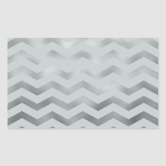Falsa textura del zigzag de Chevron de la hoja del Pegatina Rectangular