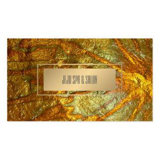 Falsa textura metálica del oro de PixDezines Tarjetas De Visita