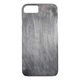 Falsa textura rasguñada fresca del metal funda iPhone 7