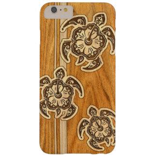 Falsa tortuga hawaiana de madera de Uhane Honu Funda Para iPhone 6 Plus Barely There