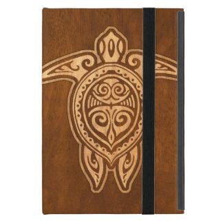 Falsa tortuga hawaiana de madera de Uhane Honu iPad Mini Carcasa