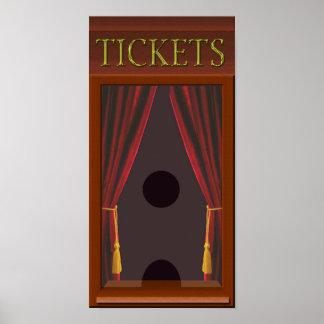 Falsa ventana de boleto de cine póster