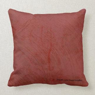 Falsas almohadas de tiro rojas toscanas del modelo