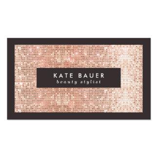 Falsas belleza y moda de cobre elegantes de la tarjetas de visita