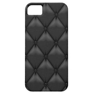 Falsas cajas de cuero negras retras del iPhone iPhone 5 Funda
