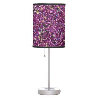 Falsas chispas rosadas magentas atractivas de la lámpara de escritorio