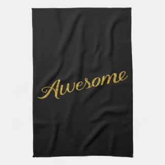 Falsas citas del brillo del oro impresionante de toallas de mano