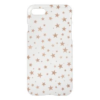 Falsas estrellas color de rosa del oro funda para iPhone 7